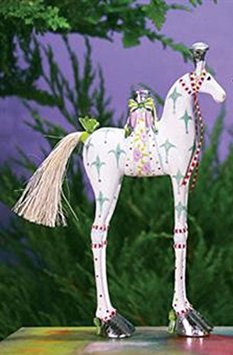 6.75″ Patience Brewster Krinkles Anabelle Horse Decorative Christmas Ornament