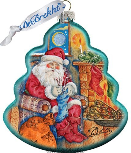 G. Debrekht Night Before Christmas Tree Glass Ornament