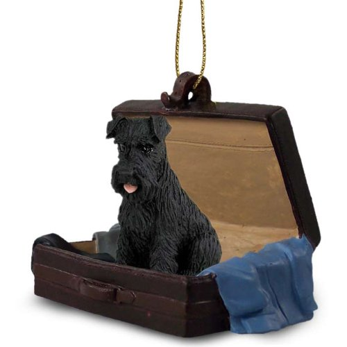 Schnauzer Black W/uncropped Ears Traveling Companion Ornament