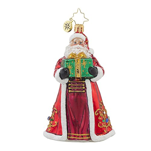 Christopher Radko Ruby Robe Giver Santa Ornament
