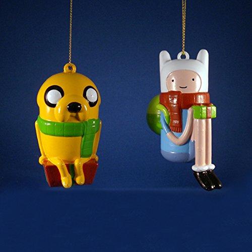 Kurt Adler 3.5″ Adventure Time Jake & Finn Blow Mold Ornaments 2/asstd