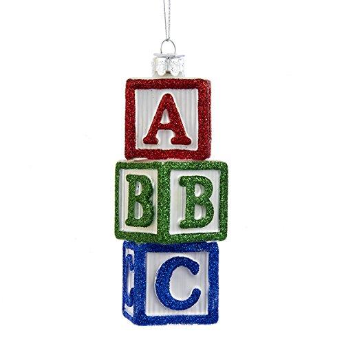 Kurt Adler Noble Gems A-b-c Blocks Ornament