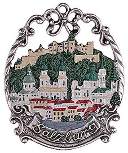 Salzburg Austria Skyline German Pewter Christmas Ornament Decoration Germany