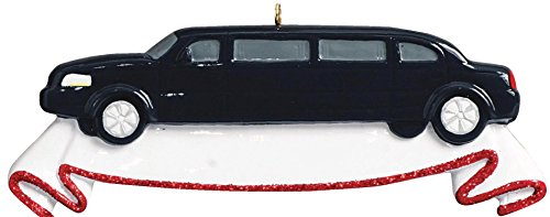 Limousine Personalized Christmas Tree Ornament