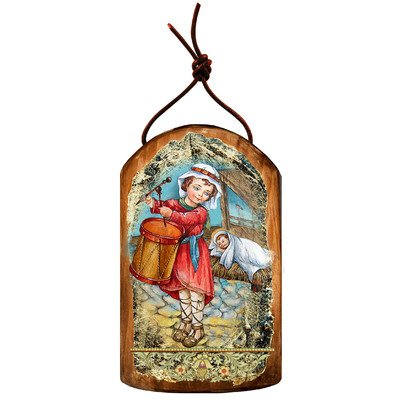 G. Debrekht Drummer Icon Wooden Ornament