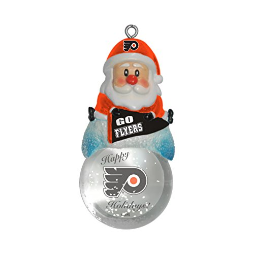 NHL Philadelphia Flyers Snow Globe Ornament, Silver, 1.5″