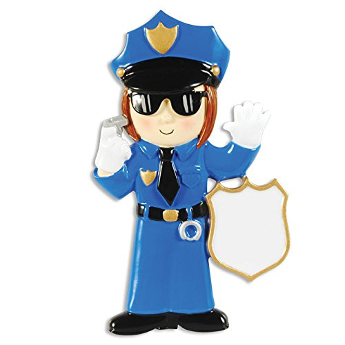 Police Woman Personalized Christmas Tree Ornament