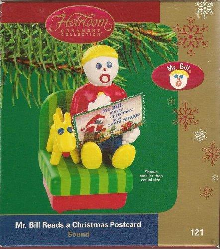 Carlton Cards Heirloom Mr. Bill Reads A Christmas Postcard (2004)