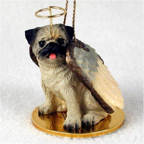 Pug Angel Dog Ornament – Fawn