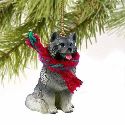 Keeshond Miniature Dog Ornament