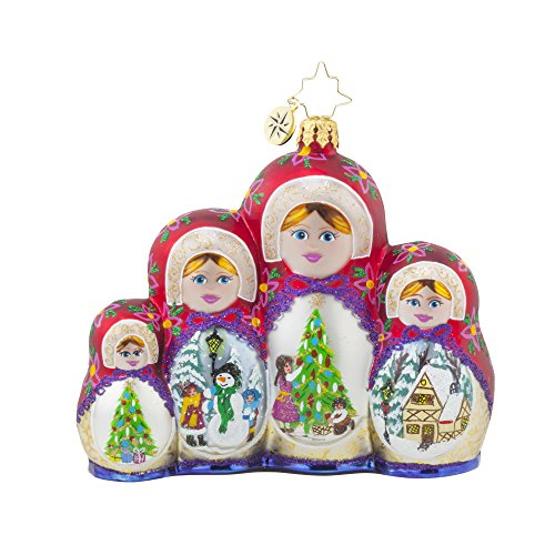 Christopher Radko Merry Matryoshka Russian Nesting Dolls Christmas Ornament