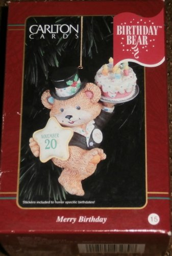 Carlton Cards Merry Birthday Christmas Ornament