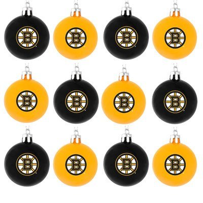 NHL Ball Ornament (Set of 12) NHL Team: Boston Bruins