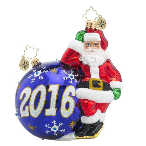 Christopher Radko 2016 Having a Ball Santa Glass Christmas Ornament – 5.5″h.