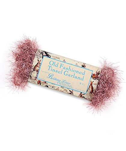 Bethany Lowe Designs Old Fashioned Tinsel Garland Old Rose