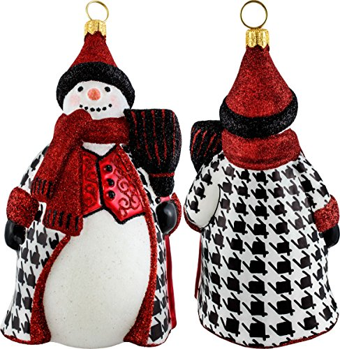 Glitterazzi Hounds Tooth Snowman Ornament by Joy to the World