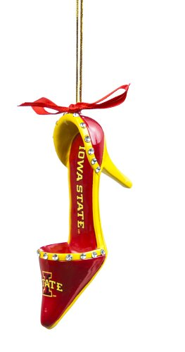 Iowa State High Heel Shoe Christmas Ornament