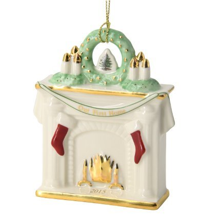 Spode Christmas Tree Our First Home Fireplace Ornament ~ Dated 2015