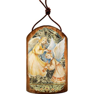G. Debrekht Angels Watching Over You Icon Wooden Ornament
