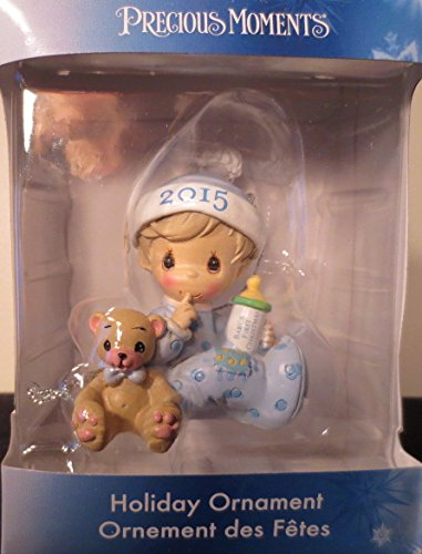 Precious Moments 2015 Babys First Christmas Ornament – Boy