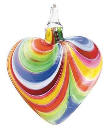 Glass Eye Studio Designer Carnival Heart Ornament