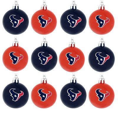 NFL Ball Ornament (Set of 12) NFL Team: Houston Texans