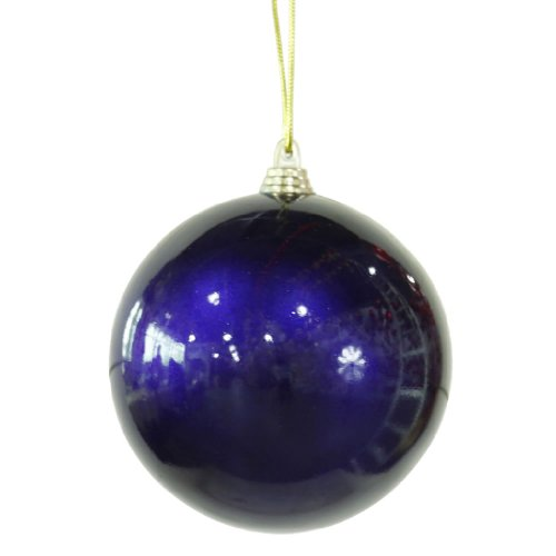 Vickerman Sea Candy Finish Ball Ornament, 4-Inch, Blue, 4-Pack