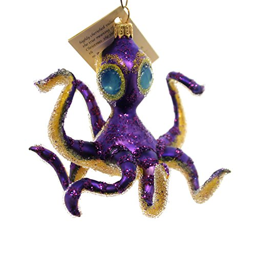Christina's World PENNY THE PURPLE OCTOPUS Glass Ornament Ocean Two Eyes Fis466