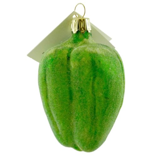 David Strand Designs BELL PEPPERS Blown Glass Vegetable DSD0807601 GREEN