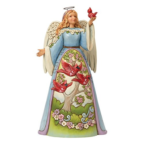 Department 56 Jim Shore Heartwood Creek Angel with Cardinal Figurine, 9.5″