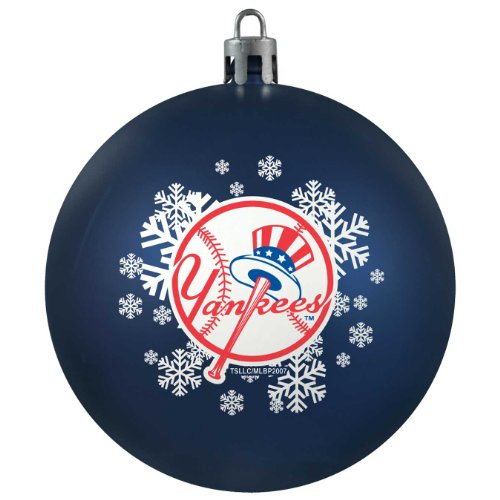 MLB New York Yankees Shatterproof Ball Ornament, 3.125″, Black