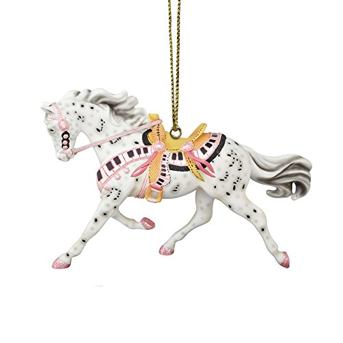 Enesco Trail of Painted Ponies Tickled Ornament, 2.25″, Pink
