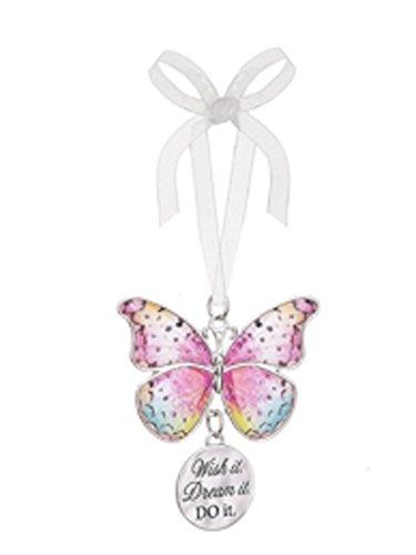 Wish it Dream it Do it Metal Butterfly Ornament – By Ganz
