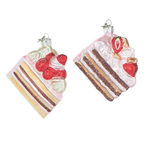 Midwest-CBK Pastry Shop Slices of Cake Glass Ornaments Baker Cook