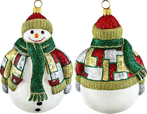 Glitterazzi Moderno Snowman Ornament by Joy to the World