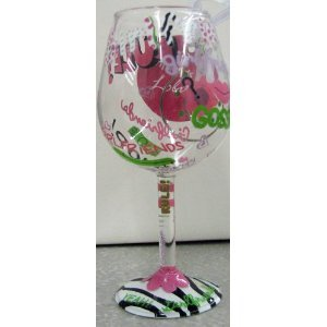 Hallmark Mini Wine Glass Ornament Girlfriends Rule By Lolita