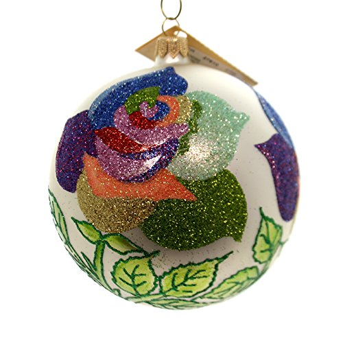 Christina's World RAINBOW ROSES Glass Ball Ornament Flower Flo699
