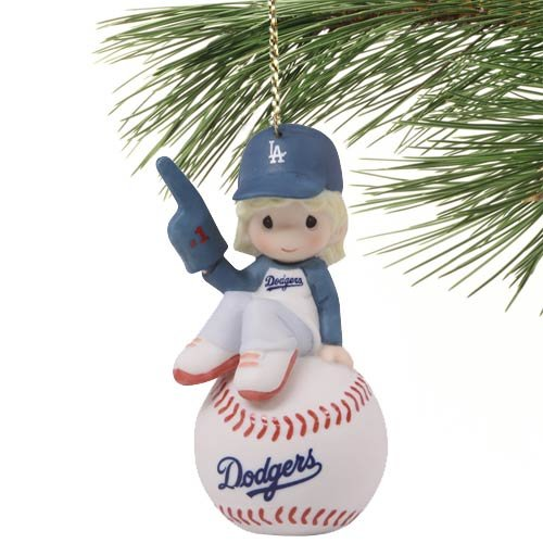 Precious Moments Los Angeles Dodgers Baseball Girl Ornament