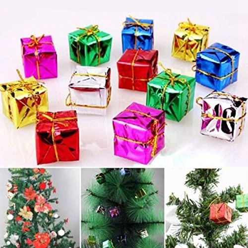 CYNDIE Hot Sale New 12 60pcs Shinny Gift Boxes Package Christmas Tree Hanging Decor Xmas Ornaments Best Price Gift 60pcs