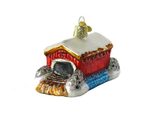 Old World Christmas Covered Bridge Ornament