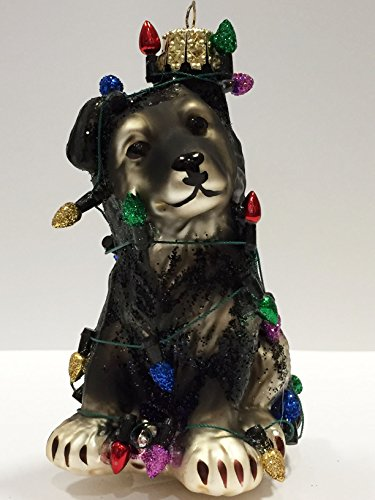 Ornaments to Remember: GERMAN SHEPHERD (Christmas Lights) PUPPY Christmas Ornament