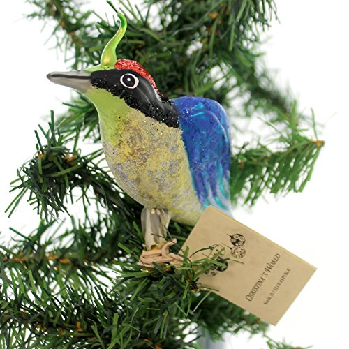 Christina's World BLUE SONGBIRD Glass Clip-On Ornament Bir283
