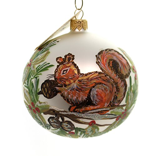 Christina's World SQUIRREL FEST Glass Ornament Animal Ball Rodent Tra437