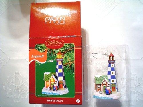 Vintage Carlton Cards Lighted Santa By the Seas Series Christmas Ornament 76 Cxor-055j