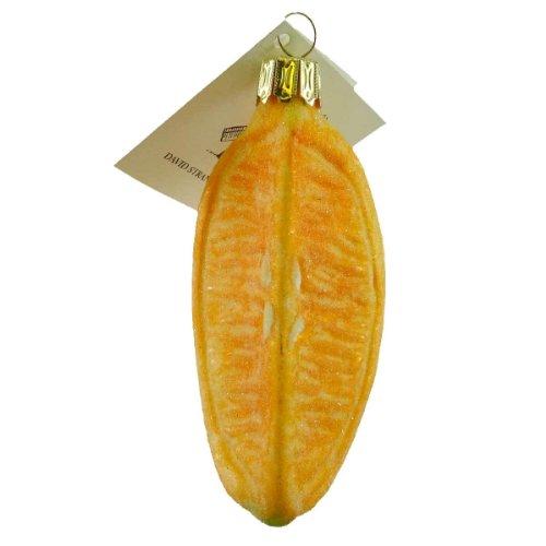 David Strand Designs CITRUS SLICE Glass Lemon Lime Fruit DSD0807401 ORANGE