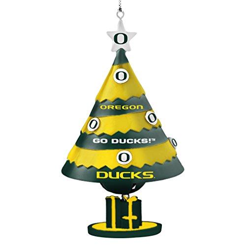 NCAA Oregon Ducks Tree Bell Ornament, Green, 5″