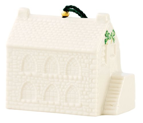 Belleek 4043 Old Schoolhouse 25th Annual Bell Ornament