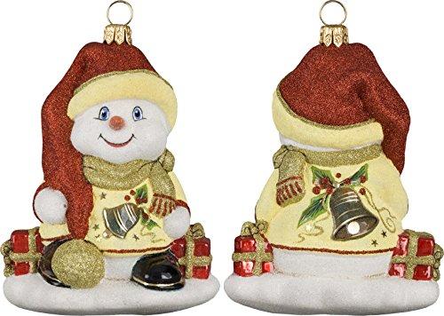 Glitterazzi Eggnog Snowman Ornament by Joy to the World