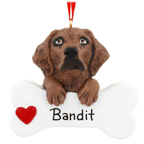 Chocolate Lab Retriever Ornament