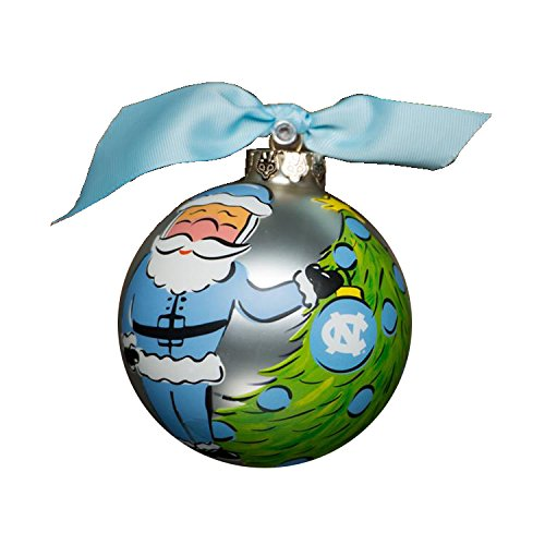 Glory Haus North Carolina Santa Glass Ornament, 4-Inch